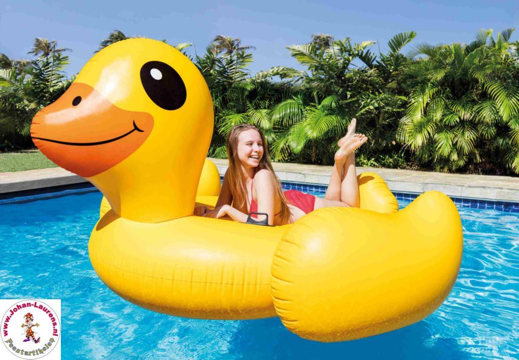 Intex Mega Yellow Duck Island 87x87x43inch 221x221x109cm