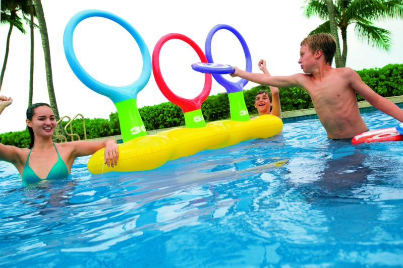 Toss n spider game 70x23x40 inch 178 x 58 x 102 cm for Two player swimming pool games