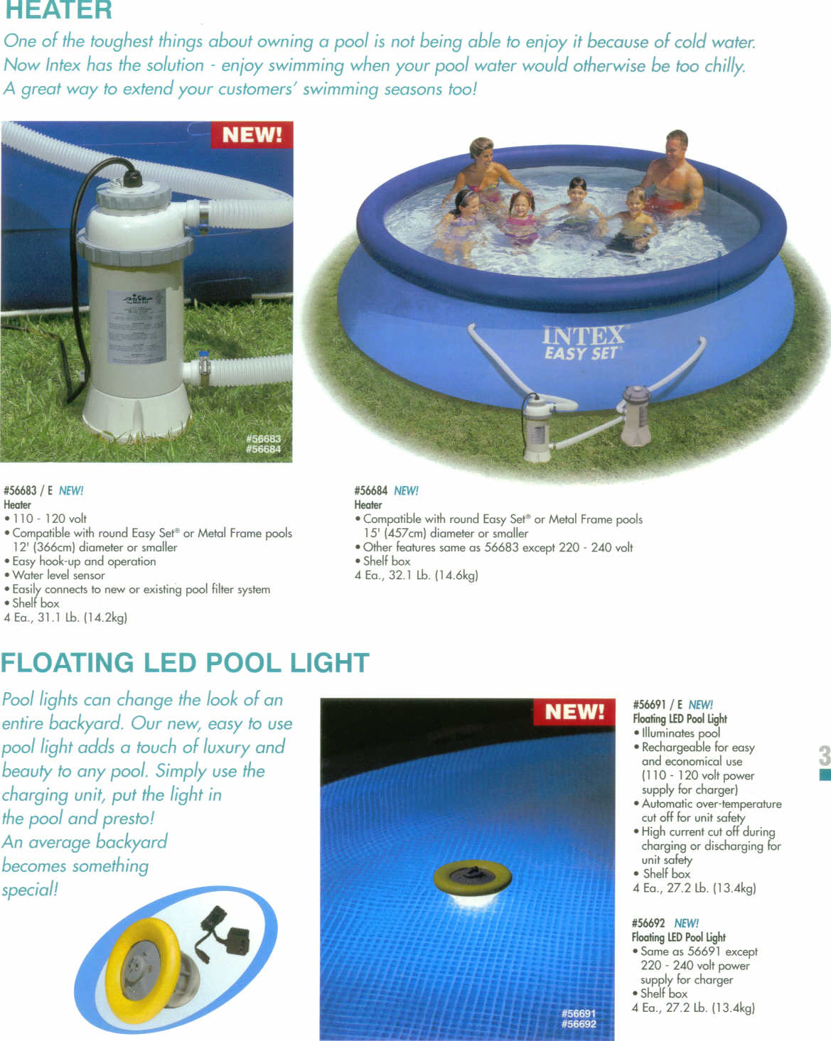 Intex pool heater 110 volts 3 kw for Swimming pool heaters